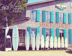 Surf Shop 11x14 surf boards blues aqua store by AnCarPhotography, $35.00