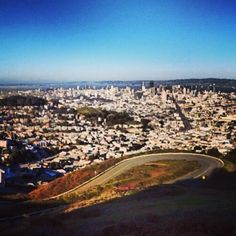 Climb on Twin Peaks to Admire the Sunset, San Francisco
