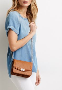 Chained Faux Leather Crossbody | Forever 21 - 1000053190