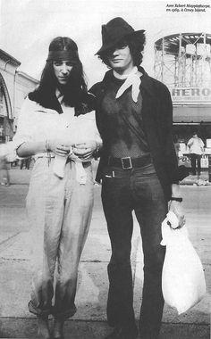 Patti Smith with Robert Maplethorpe by Gerard Malanga,1969