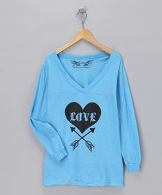 Take a look at this Turquoise V-Neck Tee by Fashion Points: Tween Trends on #zulily today!  #zulily #fall