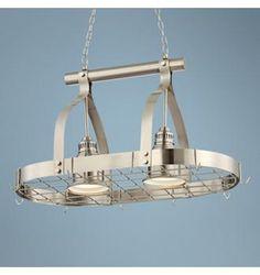 Hanging light/pot rack