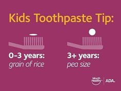 TOOTH TIP For all our patients with little ones make sure you're not using too much toothpaste. It's important to go behind them and make sure they're brushing well enough! #dentist #kids #toothpaste #smile