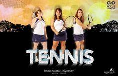 Immaculata University Women's Tennis Team. Tennis Photos, Athletics, University, Sports, Movie Posters, Movies, Hs Sports, Films, Film Poster