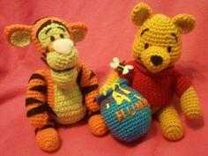Yarn Tigger and Pooh-- Harper needs a new Pooh Bear! :)