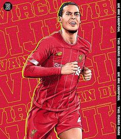 Virgil Van Dijk, Best Club, Liverpool Fc, Cartoon Images, Football Players, Soccer, Baseball Cards, Sports, Illustration