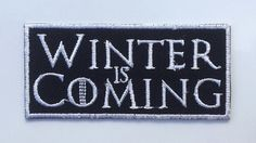 Winter is Coming Game of Thrones Patch Stark Direwolves Embroidered Iron on / Sew on Logo Badge Crest Emblem #2
