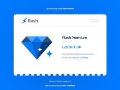 Another simple design for an email receipt. The concept is based around a conceptual messaging app called Flash. The author of this resource is Joel Pendleton. Daily Ui, Ui Elements, Ui Kit, Psd Templates, Web Design, Messages, Free, Palette, Mesh