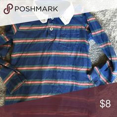 Boys striped long sleeved rugby boden tee GUC. Some fading from wash. Runs slim. Marked as a 5-6. Probably closer to a 4-5. Mini Boden Shirts & Tops Tees - Long Sleeve