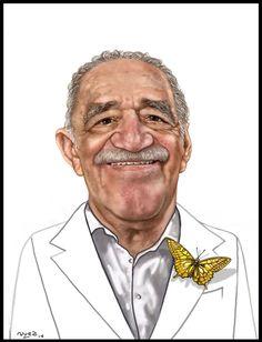 """""""No hay medicina que cure lo que no cura la felicidad."""" / """"No medicine cures what happiness cannot"""" - Gabriel García Márquez   #gabrielgarciamarquez #famousquotes #famouswriters #literature #cienañosdesoledad #escritor #frases #art #cartoon #caricature #cartoonslifeofficial #arte #caricatura"""