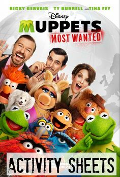 Muppets Most Wanted FREE Activity Sheets #MuppetsMostWanted