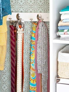 Closet Organizing Ideas - Belts
