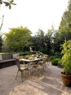 gravel patio
