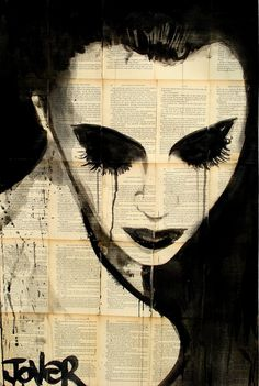 "Saatchi Online Artist: Loui Jover; Pen and Ink, 2013, Drawing ""night (SOLD)"""