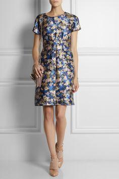 J.Crew|Collection floral-print wool-blend dress|NET-A-PORTER.COM