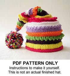 Knit Hat Knitting Pattern - Instant Download Childrens Hat Pattern - Baby Hat Pattern (Newborn Infant Toddler Child sizes) the LUCY Hat via Etsy