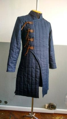 Best Item Padded Blue Thick Padded Gambeson Movies Theater Custome Sca for Halloween Gift Armor Clothing, Medieval Clothing, Historical Clothing, Concept Clothing, Medieval Costume, Medieval Armor, Character Costumes, Character Outfits, Fantasy Costumes