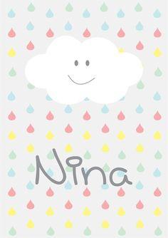 Pôster Nuvem com nome (digital)