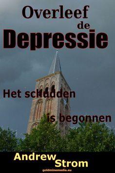 Dit was de eerste cover van het boek Overleef de depressie.