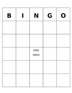 7 best bingo template images on pinterest bingo template school