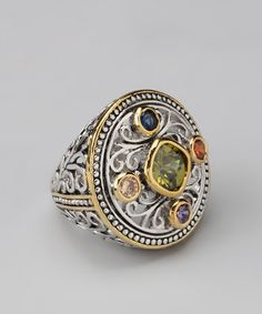 Take a look at this Colorful Gem Filigree Ring by Regal Jewelry on #zulily today!
