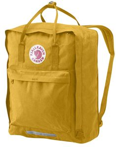 Kånken backpack with expandable extra compartment and lightly padded shoulder straps. Very hardwearing vinylon fabric. Removable seat cover at the back, reflectors in the logo, handle at the top.