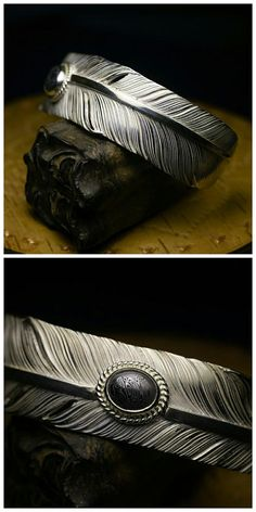 Silver Feather Cuff Men Feather Bracelet Feather Bangle Custom Engraving 925 Sterling Silver Bracelet Damascus Steel Tribal Jewelry Ethnic