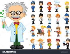 stock-vector-cartoon-characters-of-different-professions-233600938.jpg (1500×1168)