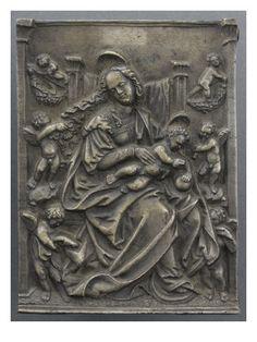 La Vierge, l'Enfant Jésus et 6 angelots - Musée national de la Renaissance (Ecouen)