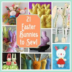 21 Easter Bunnies to Sew