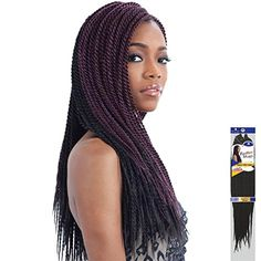FreeTress Braid SINGLE TWIST SMALL 1  Jet Black * Click image for more details.(This is an Amazon affiliate link and I receive a commission for the sales)