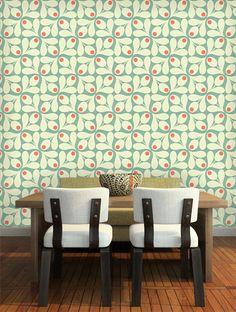 Orla Kiely Acorn Spot Wallpaper - 110417