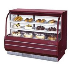 Turbo Air TCGB-60-CO 60.5 Refrigerated & Dry Bakery Display Case Curved Glass