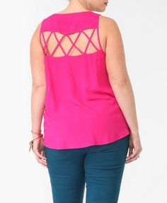 Strappy Cutout Back Tank   FOREVER 21 - 2000046564