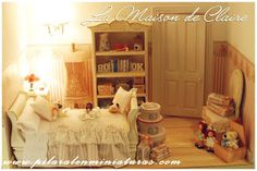 Pilar Alen Miniaturas: Papel.Cajas dollhouse bedroom