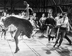 Rita Moreno Dancing with Cast of West Side Story Rita Moreno, The Great Ziegfeld, West Side Story 1961, George Chakiris, Famous Ballets, Luise Rainer, The Others Movie, Divas, Bessie Love