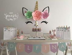 Be My Guest Party's Birthday / Unicorns - Delfina's Unicorn birthday party at Catch My Party