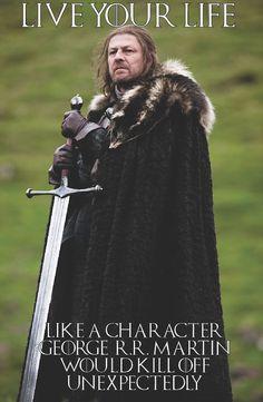 Game of Thrones Eddard Stark HBO Television Poster - Valar Morghulis, Valar Dohaeris, Game Of Thrones, Jon Snow, Eddard Stark, Ned Stark, Mejores Series Tv, My Champion, Funny Memes
