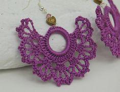 Pendientes Aretes Zarcillos de crochet-ganchillo por lindapaula