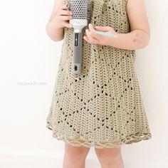 Ravelry: Summer Diamonds Toddler Dress pattern by ChiWei Ranck ~ Crochet Baby Dress Free Pattern, Crochet Toddler Dress, Toddler Dress Patterns, Crochet Shirt, Crochet Girls, Crochet For Kids, Crochet Clothes, Crochet Dresses, Pattern Dress