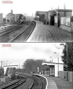 Gainsborough Lea Road Railway Station, Lincolnshire - my grandmother's cousin Arthur Kelk was working here as a porter in 1911