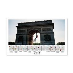 2017 Calendar Arc De Triomphe Wall Decal.  More than 100 to choose from.  Follow this link   http://www.cafepress.com/cheylines/14087576