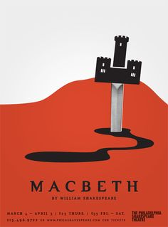 "Shakespeare's ""Macbeth""   #TheaterPoster #PosterDesign #Illustration"