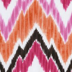 Dear Stella House Designer - Kallianthi - Flamestitch in Pink for my dining room chair recovering project Dining Seat Covers, Fabric Patterns, Sewing Patterns, Pink Punch, Modern Fabric, Staying Organized, Arts And Crafts, House Design, Quilts