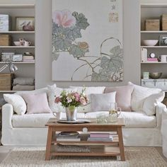 Clay and soft pink living room | Traditional living room design ideas | Living room | PHOTO GALLERY | Ideal Home | Housetohome.co.uk