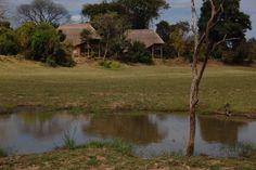 Kafunta River Lodge from the flood plain