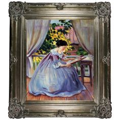 Shop for Victor Borisov-Musatov 'Lady Embroidering' Hand Painted Framed Canvas Art. Get free delivery at Overstock.com - Your Online Art Gallery Store! Get 5% in rewards with Club O!