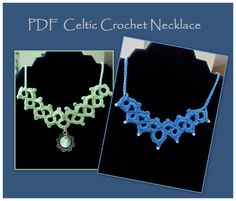 Nearly Free.......great pattern!  PDF Pattern Tutorial for Celtic Crochet Necklace by FractekDesigns, $1.99