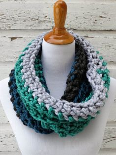 Marine inspired oversized crochet scarf by Cozy Culture