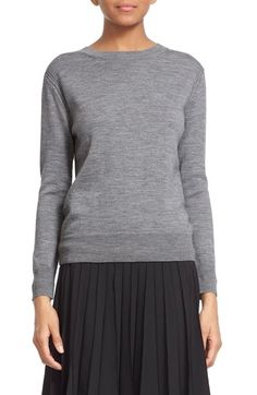 MARC JACOBS Back Button Detail Merino Wool Sweater available at #Nordstrom